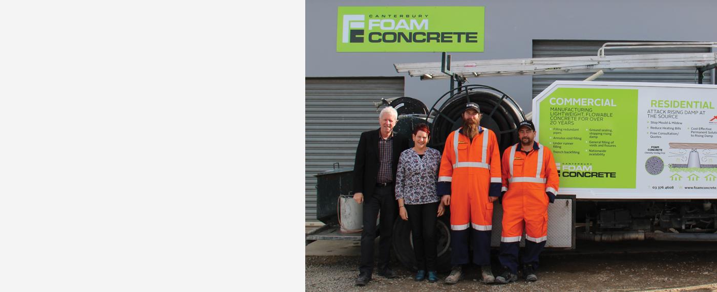 Canterbury Foam Concrete Team